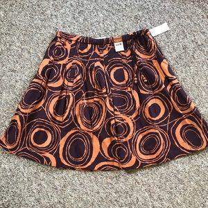 NWT Old Navy Burgundy Orange circles skirt